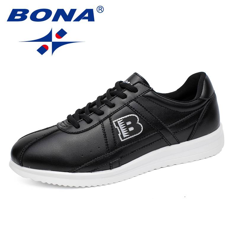 BONA New Fashion Style Men Casual Shoes Lace Up Men Shoes Microfiber Male Loafers Comfortable Male Flats Light Free Shipping