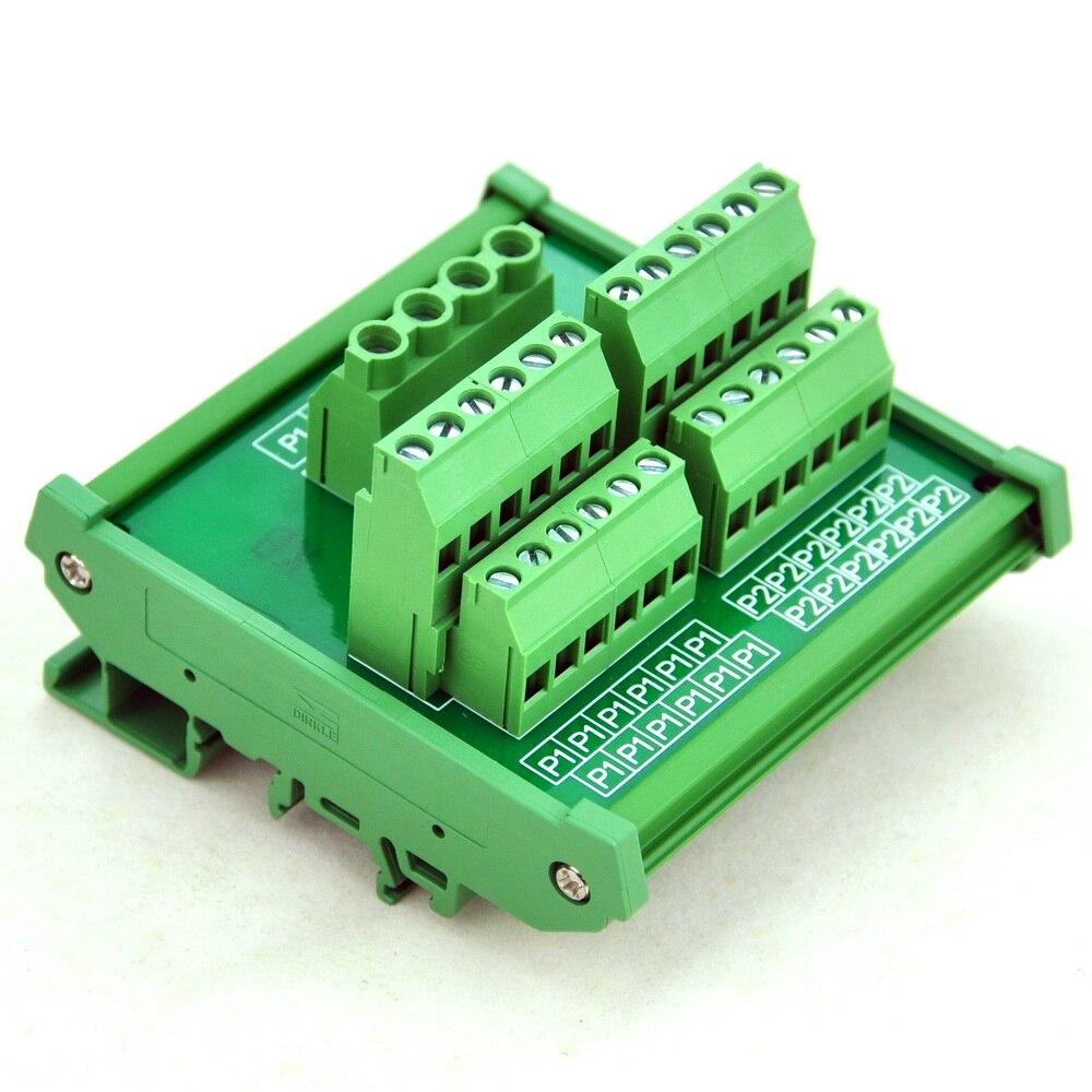 DIN Rail Mount 12 Position Power Distribution Module.