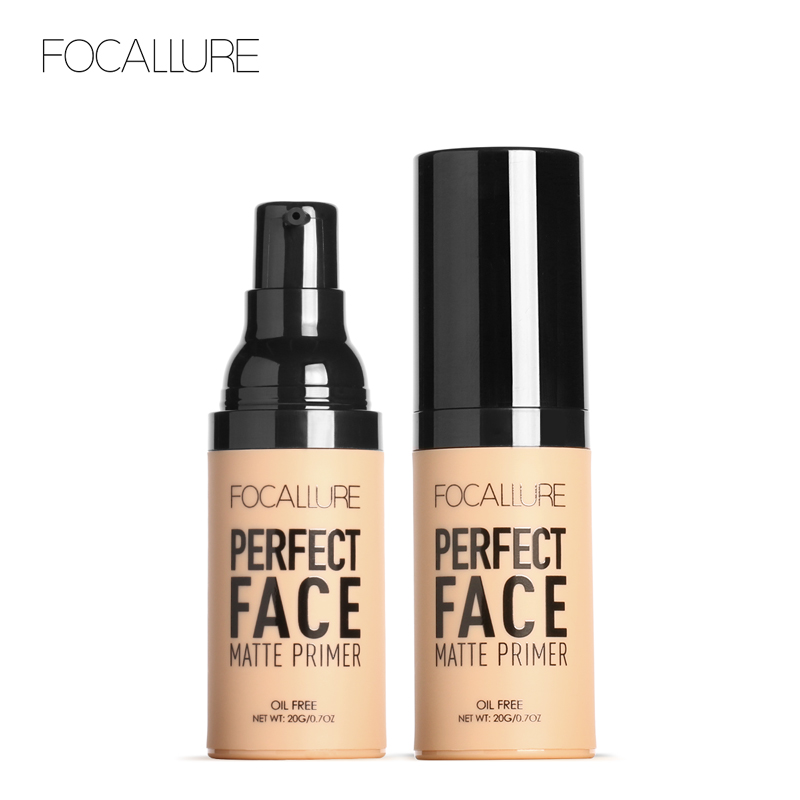 FOCALLURE Face Matt Primer Natural Makeup Foundation Makeup Base Facial Skin Oil-control Cosmetic Face Base Cosmetics primer makeup base liquid farsali 24k rose gold infused elixir skin face care essential oil anti aging makeup base 5012