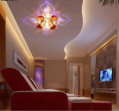 3w led modern led hallway crystal ceiling light fixture with beautiful crystal guaranteed 100 abajur beautiful lighting fixtures