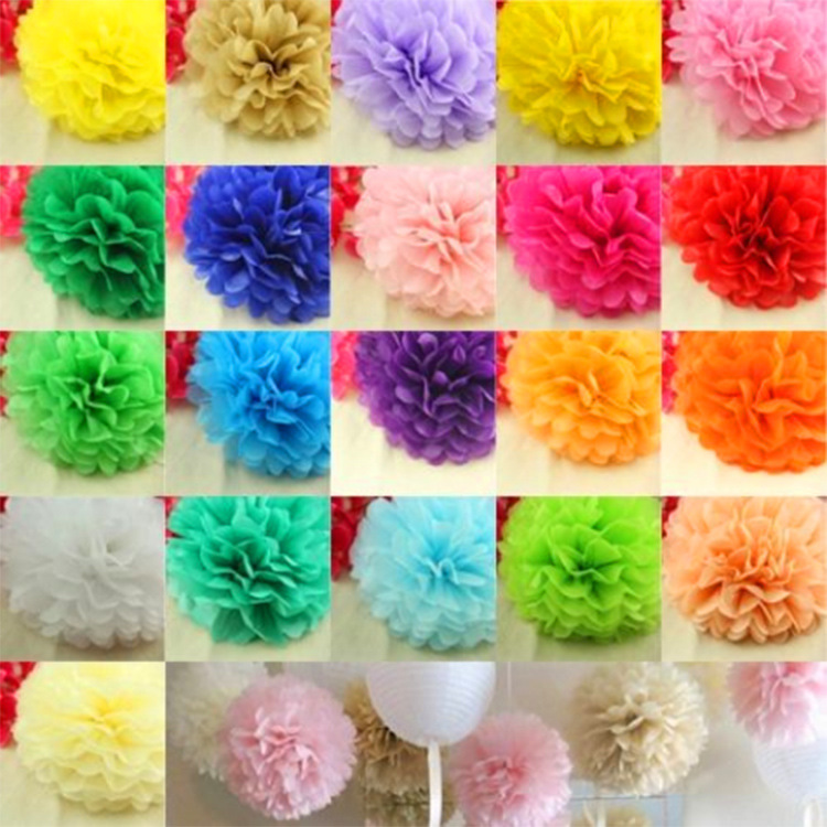 US $6 56  Wholesale handmade crafts manufacturers, the paper cone POMPOM  wedding party supplies-in Party DIY Decorations from Home & Garden on