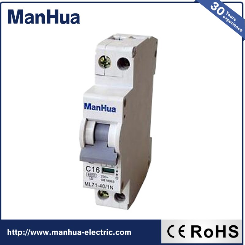 Manhua New Products 2017 Innovative Product Mini Circuit Breaker C16 Surge Protective DeviceMini voltage protection Widely use
