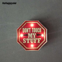 DON'T TOUCH MY STUFF Vintage Tin Metal Sign Plaque Bar Pub Cafe Garage Living Room Wall Decor Retro Vintage Home Decor