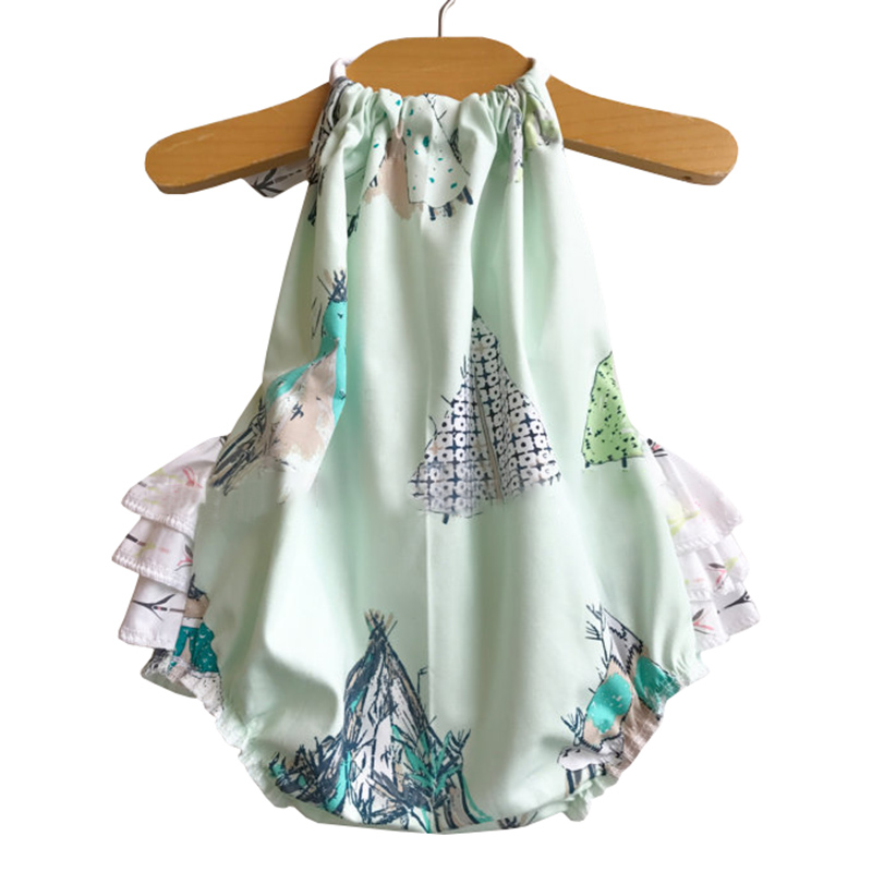 2018 Baby Girl Summer ClothesNewborn Infant Bodysuits Dress Fashion Floral Little Girls Onesie Coverall Kids Overall