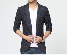 2018 spring autumn men casual plaid stripe blazer suit Jacket Men's slim fit blazer male wedding dress blazer Asian size M-3XL
