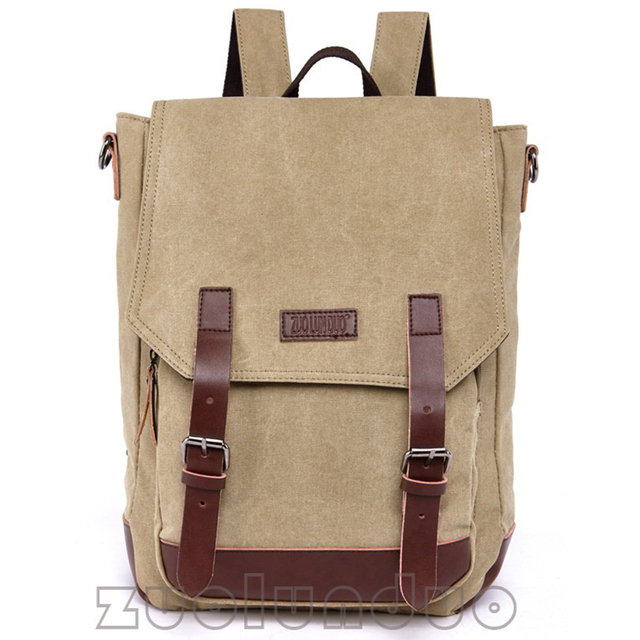Men s Canvas Backpacks Leather Backpack Laptop Tote Man Mochilas Women  Knapsack Rucksack Mochinas Eescolares Bolsas Bagpack 3f75a92adae72