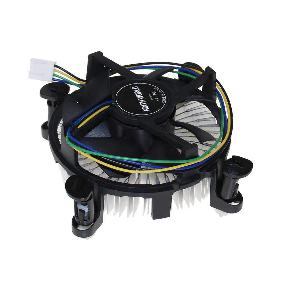 "Enchufe 1150/1155/1156 enfriador de 4 pines CPU con disipador de calor de aluminio y ventilador de 3,5 ""para ordenador de sobremesa Intel Core i3/i5/i7"