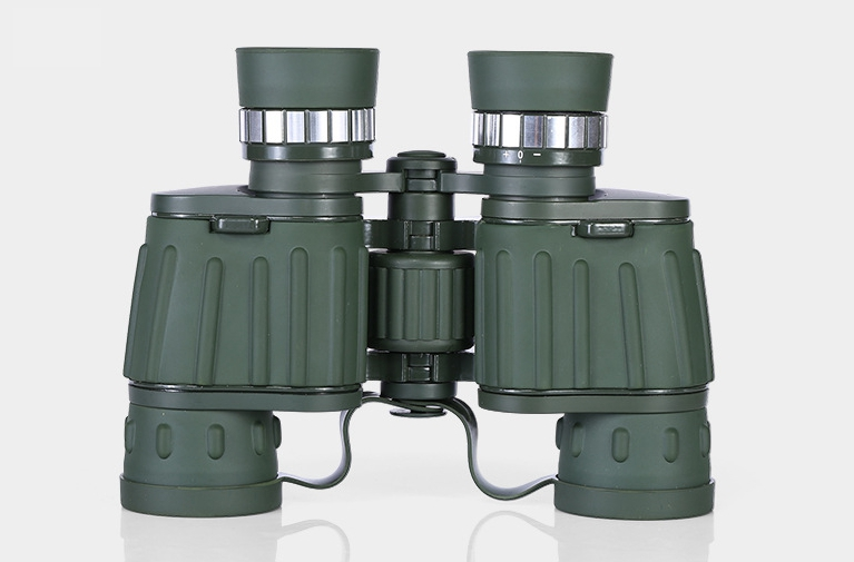 Étanche anti-buée 8x42 armée vert brillant cercle double tube haute durée télescope extérieur 8 fois grossissement télescope