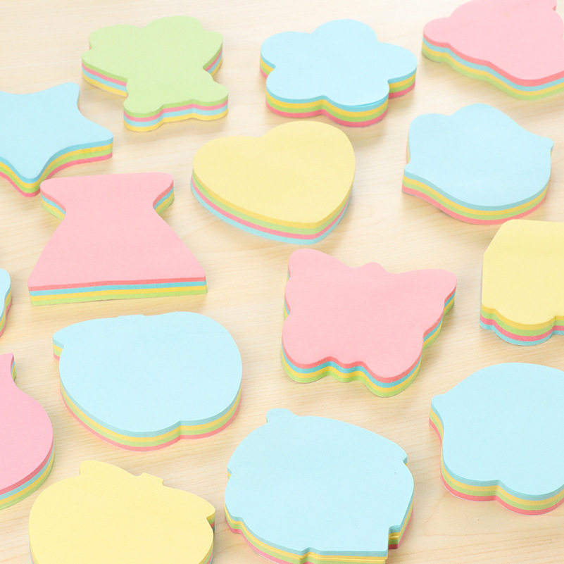100 Pages Multicolor Sticky Notes Cute Office Love Memo Pads Sticker Post Bookmark Marker Flags Sticker Planner Briefpapier