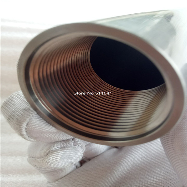 Gr5 titanium tube grade5 titanium thread tube OD35mm*28mm ID*600mm long ,free shipping