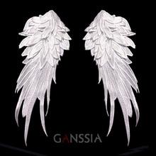 Стильный вышитые ангельские крылья ткань патч Плечо украшения Венеция Кружева Швейные аппликация для DIY хеллоуин костюм (ss-7306)