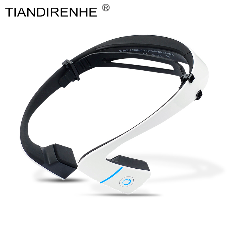 Bone Conduction Earphone LF18 Bluetooth 4.0 Wireless Sports Headset Stereo Bass Neck-strap Headphone with Mic USB Hands-free