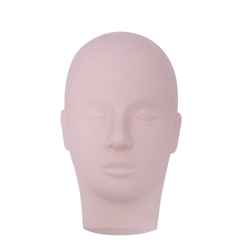 Professional Training Mannequin Head for Eyelash Extension Flat Head Practice Makeup False Eyelash Extension Tools