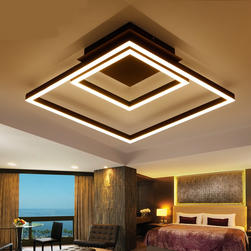 Simple rectangular LED ceiling lights/lamps creative living room bedroom creative cloakroom clothing shop art lighting ZA lo1030 american simple glass ceiling lights creative living room bedroom senior hotel lobby lighting 3 4 6 9 heads ceiling lamps za