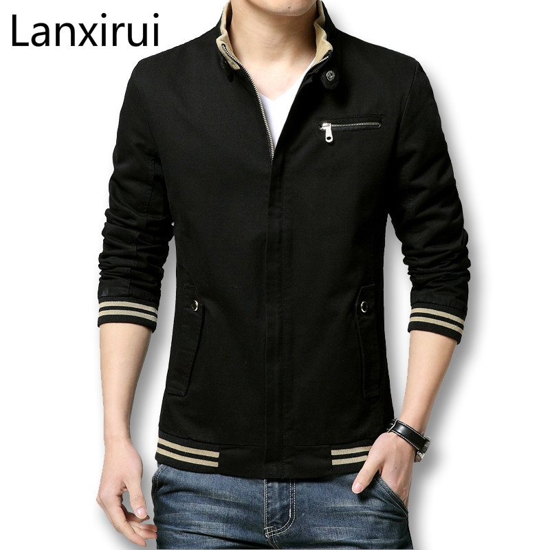 Brand New Autumn Men Casual Jacket Coat Mens Fashion Washed Cotton Brand -Clothing Jackets Male Coats Zipper Sales