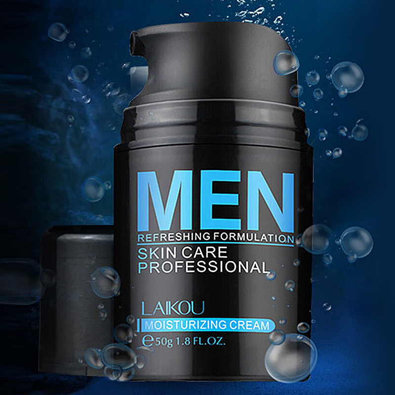 Natural Men's Face Lotion Moisturzing Oil Balance Brighten Pores Minimizing 50g Men Facial Skin Care Cream MH88