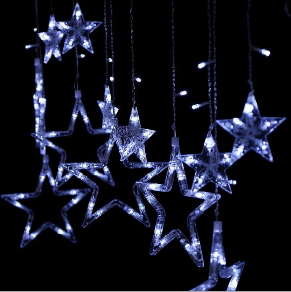 Led Indooroutdoor Garland Icicle Curtain Stars String