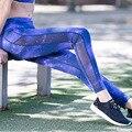 La moda de Nueva Malla Patchwork Mujer Pantalones Leggings Deportivos de Fitness Otoño Impresión de Secado Rápido Fuerza Ejercicio Delgado Leggings Para La Mujer