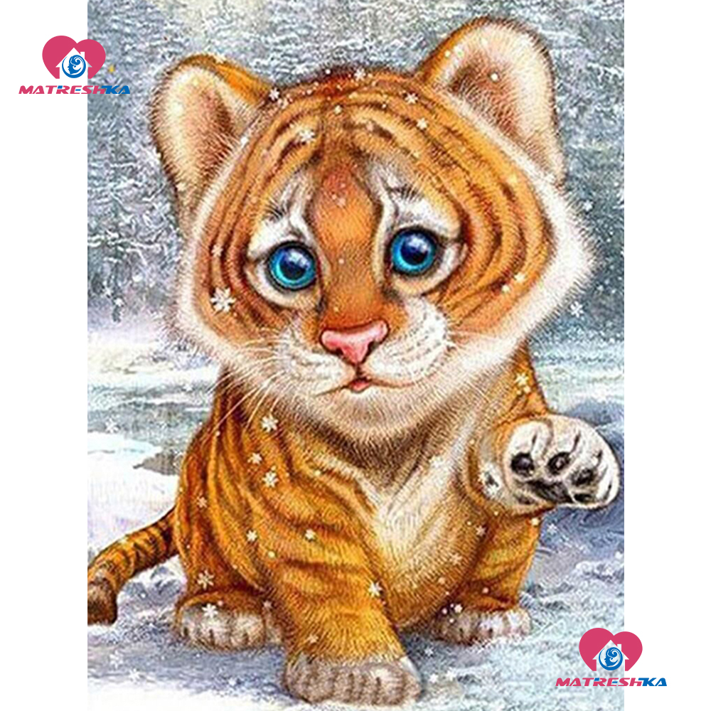 5d Diamond Embroidery Accessories Tiger Baby Cross Stitch