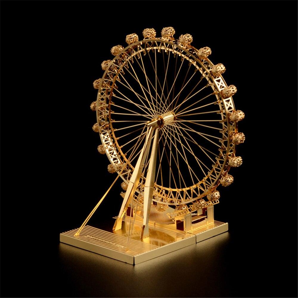 купить 3D Puzzles Mine Metal DIY Ferris Wheel Model Home Decoration Best gift for Child дешево