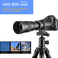 420 800mm F/8.3 16 DSLR Super Telephoto Manual Zoom Lens+Bag for Canon Nikon Pentax Olympus Sony A6500 A7SII 6300 GH4