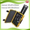 Seguridad impermeable medidor herramienta carro caja 587*358*221mm caja impacto plástico sellada caja de la cámara caja de herramientas con FOMA