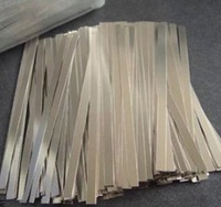 500pcs 0.1 x 8 x 100mm Nickel Plated Steel Strap Strip Sheets for battery spot welding machine Welder Equipment