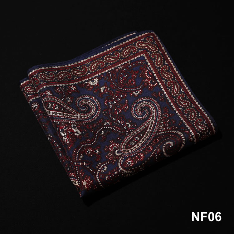NF06 HN10V1 Navy Blue Brown Paisley