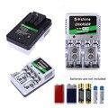 Ee.uu. plug cargador de batería para aa/aaa/9 v/ni-mh/ni-cd baterías recargables