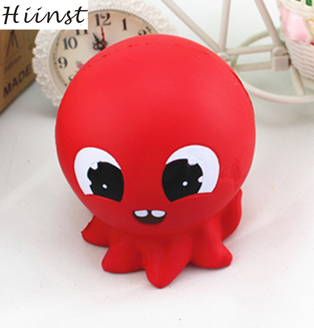 HIINST funny toys 2017 squishy Red Octopus Bread Phone Straps squishy slow rising Bun Charms Gifts Toys *R Drop