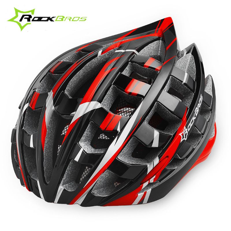 ROCKBROS Men MTB Bicycle Cycling Helmet 36 air Safety Cycling EPS Ultralight Helmet Road Mountain Bike Helmet Red Blue Yellow 35 cycling bike bicycle handlebar tape belt wrap w bar plug yellow camouflage 2 pcs
