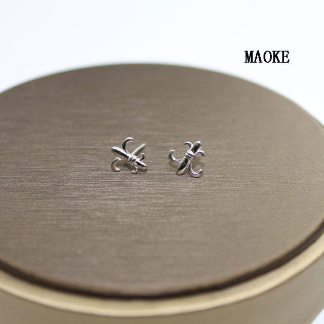 6b2d9d252ea0c US $12.29 10% OFF Promotions S925 Sterling Silver Stud Earrings Cute  Fashion Anchor Navy Wind Stud Earrings Fashion Jewelry for Women's Gifts-in  Stud ...
