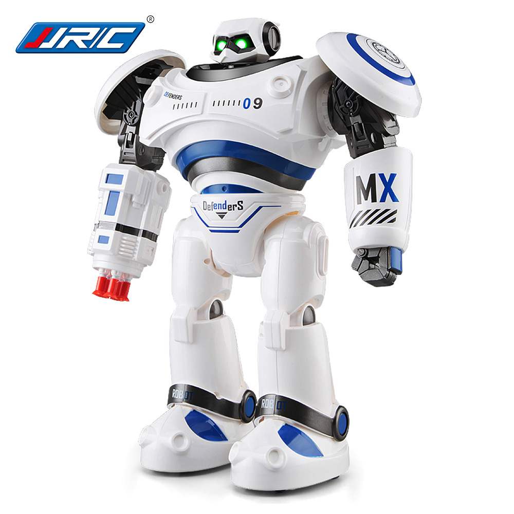 New JJRC R1 Defenders Infrared Control Robot Programmable Movement Missile Shooting Sliding Walking Dancing Mode RC Robot Toys r1 intelligent rc robot programmable walking dancing combat defenders armor battle robot remote control toys for child gifts