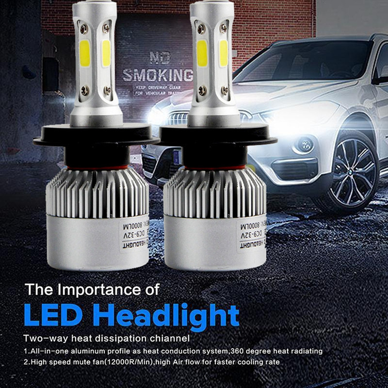 HOT SELL H4 110W 16000LM LED Headlight Conversion Kit Car Beam Bulb Driving Lamp 6000K Car Styling @016