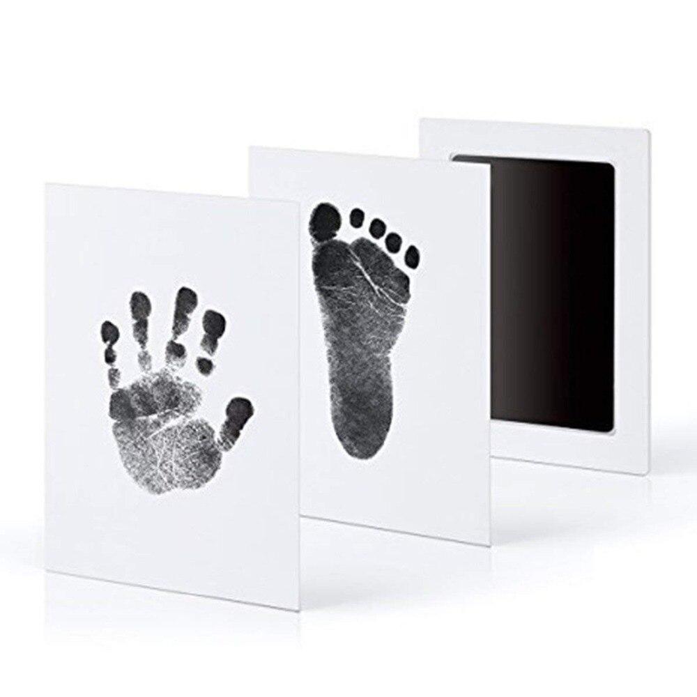 Footprint Impressum Kit Baby Tinte Pad Lagerung Memento Tinte Neugeborenen Baby Souvenir Schublade Tintenlosen Handabdruck Casting Foto Rahmen Kits Modernes Design