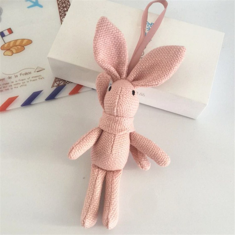 NEW-Rabbit-Plush-Animal-Stuffed-Dress-Rabbit-Key-chain-TOY-Kid-s-Party-Plush-TOY