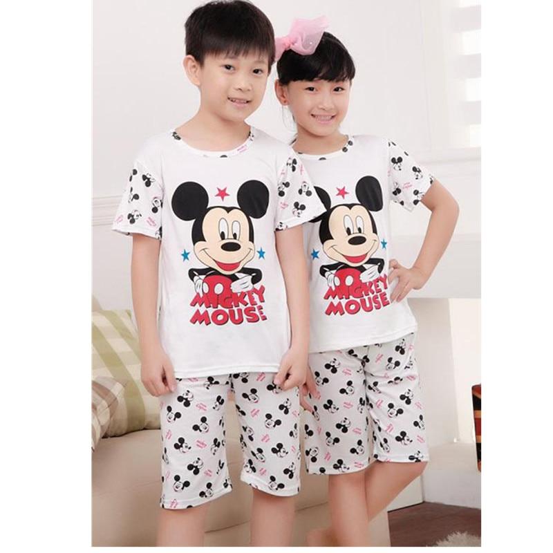 Fashion Summer Kids Pajamas Baby Boys Gilrs Clothing Short ...