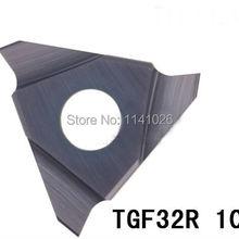 10 шт. TGF32R 100 карбидная токарная вставка, режущие вставки, Заводские розетки, эфир, ЧПУ, для рифленого держателя CGBR& SGBR