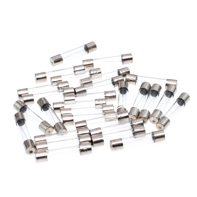 10pcs Fast-blow Glass Fuses Assorted Kit 6*30mm 250V  0.5A 1A 2A 3A 4A 5A 6A 8A 10A 15A 20A 25A 30A AMP Tube Fuses