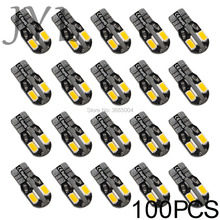 100 x Canbus Error Free T10 Warm White 8 5730 SMD LED Car Side Wedge Light Bulb patriot pa 445 t10 x treme