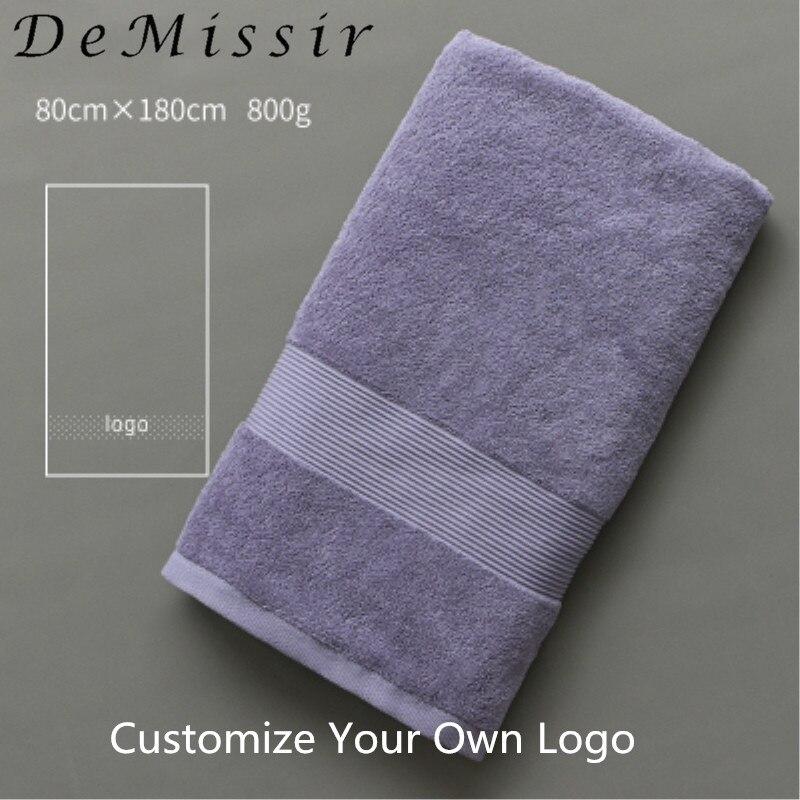 02c418389227 DeMissir OEM Custom Logo Beauty Salon Towel Egyptain Cotton Bath Face Hand  Towels Skirt Robes Hotel Grey White Bath Towels