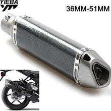 36-51MM Universal Motorcycle Exhaust Pipe Modified Exhaust Pipe for YAMAHA YZFR1 XJR1300 FJR 1300 FZ1 FAZER TRIUMRH TRophy/SE цены онлайн