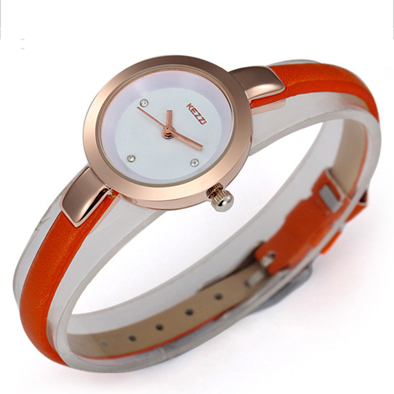 KEZZI Quartz Watch 2017 New Fashion Digital Women Wristwatch Women Silver Watch Dress Leather Thin Brecelet Strap Casual clock s quire 947131