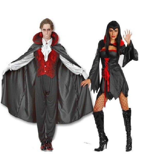 Envo libre mujeres y hombres adultos traje de vampiro disfraces de
