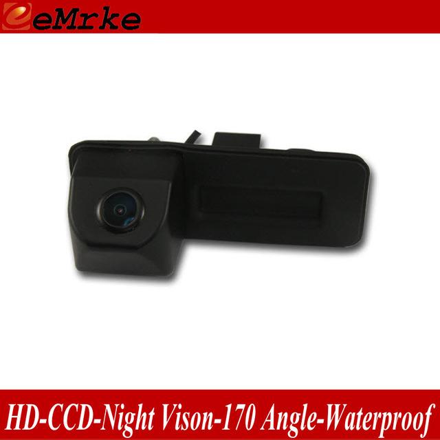 EeMrke Tronco Alça Da Câmera Para Skoda Octavia Rápida Fabia Roomster Superb Yeti visão CCD HD Câmera de Visão Traseira
