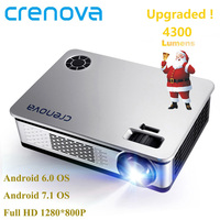 CRENOVA 4300 люмен видео проектор для Full HD 1080*1920 Android проектор с Wi Fi Bluetooth Android 7,1 светодиодный проектор ОС 6,0