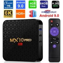 MX10 PRO 6K Android 9.0 Smart TV Box Allwinner H6 czterordzeniowy 4GB RAM 64GB ROM USB3.0 WIFI 3D 6K UHD H.265 HDR PK T95 MAX Q Plus