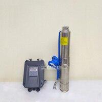 Новый Солнечный DC бесщеточный глубинного насоса Нержавеющаясталь водяной насос с контроллер для орошения 3FLD5 72 72 1100 72 В 1100 Вт 5m3 /ч