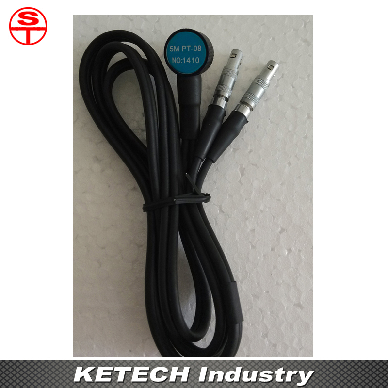 PT-08 Probe Transducer Sensor For Ultrasonic Thickness Gauge mitech 60 degree angle beam probe transducer 2mhz 20x22mm for mfd350b mfd500b mfd620c mfd650c mfd800c ultrasonic flaw detector