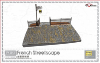 1/72 TAssemble he streets of France Static model scene, a perfect reproduction of the Second World War French Street corner.